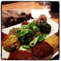 Photo taken at Desta Ethiopian Kitchen by Amanda W. on 11/21/2012