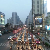 Photo taken at Asok Intersection by Oakxie on 2/1/2013