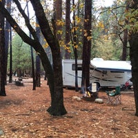 Photo taken at Upper Pines Campground by Angie M. on 11/3/2014
