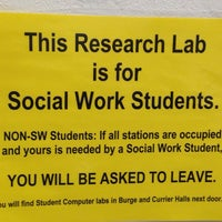 Photo taken at Social Work Computer Lab by Lacey N. on 3/3/2014