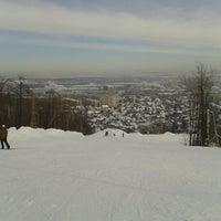 "Photo taken at Лыжная база ""Роща"" by Stas K. on 1/26/2013"