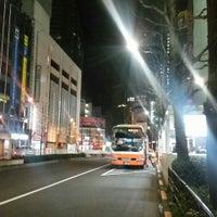Photo taken at Bus Stop 24 - Shinjuku Sta. West Exit by Genna K. on 3/15/2016