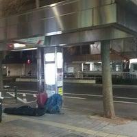 Photo taken at Bus Stop 24 - Shinjuku Sta. West Exit by Genna K. on 1/19/2016