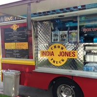 Photo taken at India Jones Chow Truck by dutchboy on 4/1/2013