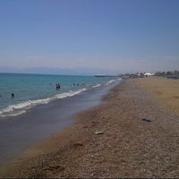Photo taken at Kadriye Beach Park by Ali Ozan K. on 7/24/2013