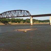 Photo taken at South Sioux City Train Bridge by Carlos G. on 7/12/2013