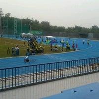 Photo taken at Stadion Kaharudin Nasution by Citra N. on 10/10/2012