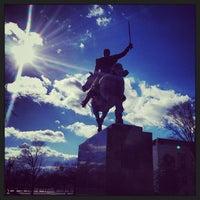 Photo taken at Simon Bolivar, the Liberator Statue by Aaron E. on 12/15/2013