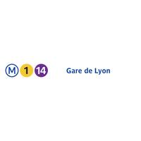 Photo taken at Métro Gare de Lyon [1,14] by RATP on 7/19/2013