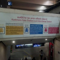 Photo taken at Kashmere Gate Metro Station by SMS Siddharth S. on 10/26/2012