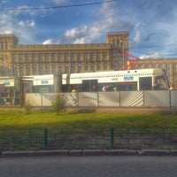 Photo taken at Трамвайная остановка «Метро «Сокол» by Ändrey Ü. on 7/12/2016