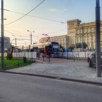 Photo taken at Трамвайная остановка «Метро «Сокол» by Ändrey Ü. on 7/25/2016
