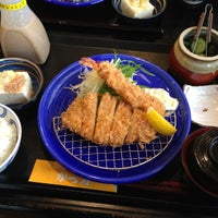 Photo taken at かつ雅 小幡店 by N H. on 4/12/2013