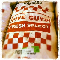 Photo taken at Five Guys by Gregory S. on 10/11/2012