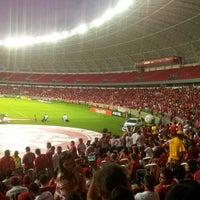 Photo taken at Beira-Rio Stadium by Vicente B. on 2/16/2014