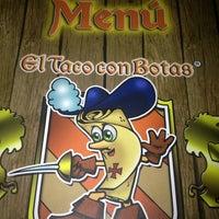 Photo taken at El Taco Con Botas by Alex F. on 3/22/2013