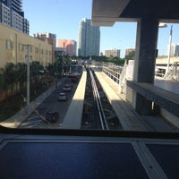 Photo taken at MDT Metromover - Brickell Station by José O. on 5/6/2013