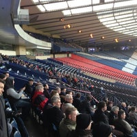 Photo taken at Hampden Park by Andy H. on 4/2/2013