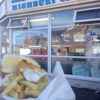 Photo taken at The Highbury Chippy by Andy H. on 8/9/2014