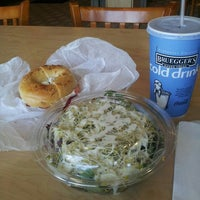 Photo taken at Bruegger's Bagel Bakery by Tracy on 9/9/2013