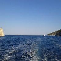 Photo taken at Aegean Sea by Tuğçe C. on 8/20/2012