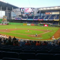 Photo taken at Marlins Park by Ricardo V. on 4/12/2013
