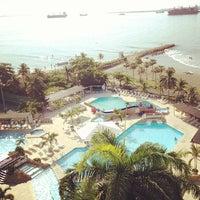 Photo taken at Hilton Cartagena by Kelya R. on 1/20/2013