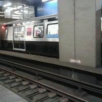 Photo taken at MetrôRio - Estação Carioca by Thábata A. on 10/5/2012