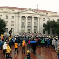 Photo taken at Sproul Plaza by Sean R. on 11/26/2016