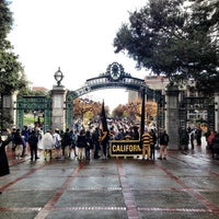 Photo taken at Sather Gate by Sean R. on 11/26/2016