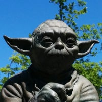 Photo taken at Yoda Statue by Jef P. on 5/6/2014