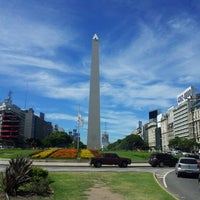 Photo taken at Obelisco - Plaza de la República by Arthur Cezar D. on 1/11/2013