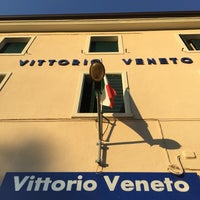 Photo taken at Stazione Vittorio Veneto by Rainer K. on 8/14/2017