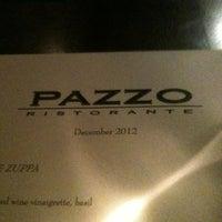 Photo taken at Pazzo Ristorante by Jim W. on 1/1/2013