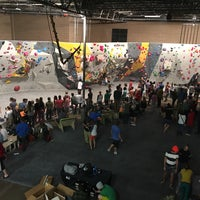 Photo taken at Momentum Indoor Climbing by Andrea Y. on 10/14/2017