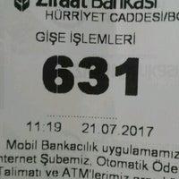 Photo taken at T.C. Ziraat Bankası Hürriyet Caddesi Şubesi by 🍺Ümit A. on 7/21/2017