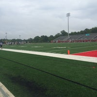 Photo taken at Nation Ford High School Stadium by Tierra A. on 8/9/2014