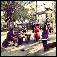 Photo taken at Place des Abbesses by Nuno O. on 5/5/2013