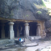 Photo taken at Elephanta Caves by Gato M. on 7/18/2013