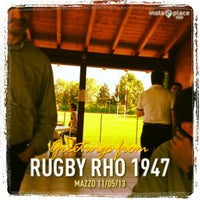 Photo taken at Rugby Rho 1947 by Luca C. on 5/11/2013