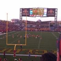 Photo taken at Jack Trice Stadium by Becky V. on 9/29/2012