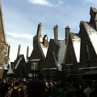 Photo taken at The Wizarding World Of Harry Potter - Hogsmeade by Julia K. on 12/28/2012