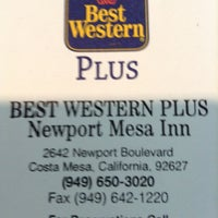 Photo taken at Best Western Plus Newport Mesa Inn by Liam G. on 6/28/2013