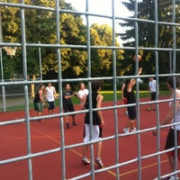 Photo taken at Streetball Court Vršava by Vi L. on 7/7/2013