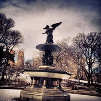 Photo taken at Bethesda Fountain by Michael R. on 2/12/2013