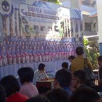 Photo taken at SMA Negeri 1 Manado by MeiDewi on 6/30/2015