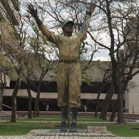 Photo taken at Jackie Robinson Statue by Cortlan on 5/2/2014