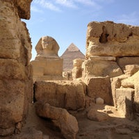 Photo taken at Great Sphinx of Giza by Adriano M. on 10/26/2012