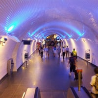Photo taken at Metro Baixa-Chiado [AZ,VD] by Jorge N. on 9/9/2011