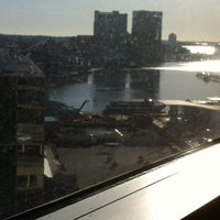 Photo taken at Club Lounge at the Sheraton Inner Harbor by Cynthia T. on 3/9/2013